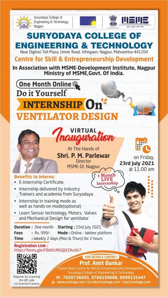 DIY Internship on Ventilator Design